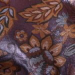 Orange Cotton, Polyester Flowers Jacquard fabric for Ceremony Dress.