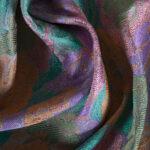 Tessuto Jacquard Arancione, Rosa, Verde in Poliestere per Giacca, Spolverino.