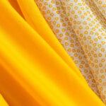 Yellow cotton muslin fabric for dressmaking   new tess