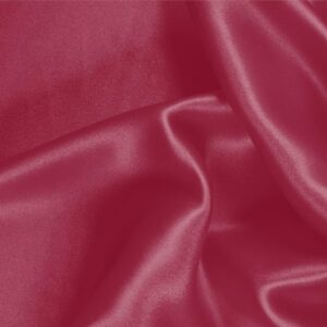 Rubino Red Silk Crêpe Satin Plain fabric for Ceremony Dress, Dress, Party dress, Shirt, Skirt, Underwear.