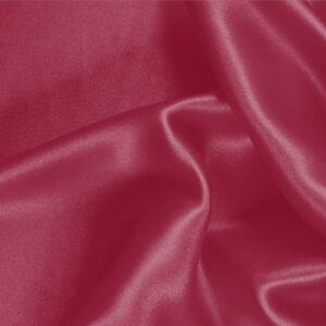 Tessuto Unito Crêpe Satin Rosso Rubino in Seta per Abito, Abito da Cerimonia, Abito da Sera, Camicia, Gonna, Lingerie.