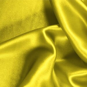 Sun Yellow Silk Crêpe Satin Plain fabric for Ceremony Dress, Dress, Party dress, Shirt, Skirt, Underwear.