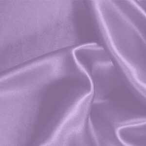 Lilac Purple Silk Crêpe Satin Plain fabric for Ceremony Dress, Dress, Party dress, Shirt, Skirt, Underwear, Wedding dress.