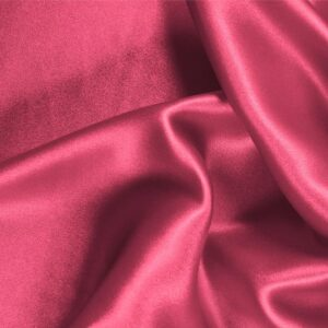 Petunia Fuxia Silk Crêpe Satin Plain fabric for Ceremony Dress, Dress, Party dress, Shirt, Skirt, Underwear.