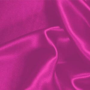Cyclamen Fuxia Silk Crêpe Satin Plain fabric for Ceremony Dress, Dress, Party dress, Shirt, Skirt, Underwear.