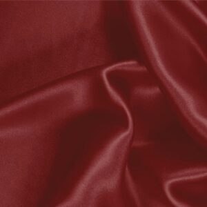 Amaranto Red Silk Crêpe Satin Plain fabric for Ceremony Dress, Dress, Party dress, Shirt, Skirt, Underwear.