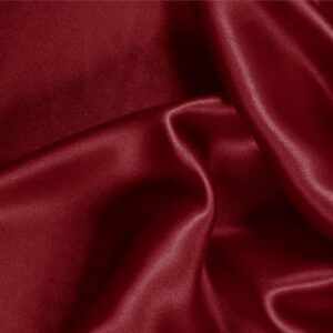 Burgundy Purple Silk Crêpe Satin Plain fabric for Ceremony Dress, Dress, Party dress, Shirt, Skirt, Underwear.