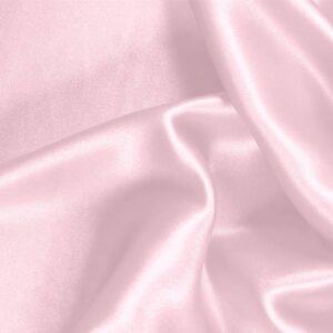 Tissu Uni Crêpe Satin Rose bébé en Soie pour Chemise, Jupe, Lingerie, Robe, Robe de cérémonie, Robe de mariée, Robe de soirée.