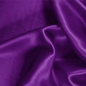 Mirtillo Purple Silk Crêpe Satin Plain fabric for Ceremony Dress, Dress, Party dress, Shirt, Skirt, Underwear.