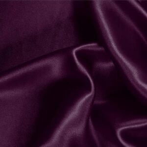 Plum Purple Silk Crêpe Satin Plain fabric for Ceremony Dress, Dress, Party dress, Shirt, Skirt, Underwear.