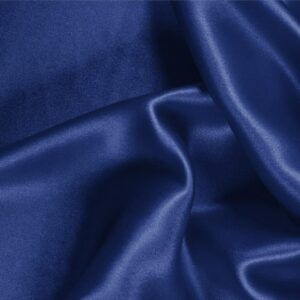 Zaffiro Blue Silk Crêpe Satin Plain fabric for Ceremony Dress, Dress, Party dress, Shirt, Skirt, Underwear.