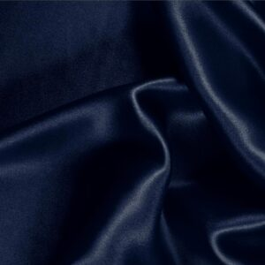 Navy Blue Silk Crêpe Satin Plain fabric for Ceremony Dress, Dress, Party dress, Shirt, Skirt, Underwear.