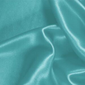 Hawaii Blue Silk Crêpe Satin Plain fabric for Ceremony Dress, Dress, Party dress, Shirt, Skirt, Underwear.