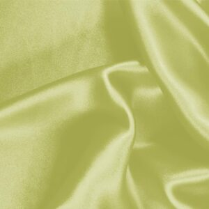 Lime Green Silk Crêpe Satin Plain fabric for Ceremony Dress, Dress, Party dress, Shirt, Skirt, Underwear.
