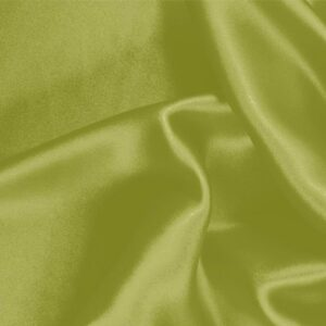 Acid Green Silk Crêpe Satin Plain fabric for Ceremony Dress, Dress, Party dress, Shirt, Skirt, Underwear.