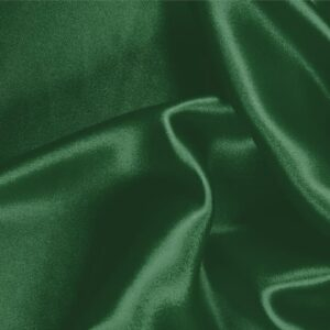 Smeraldo Green Silk Crêpe Satin Plain fabric for Ceremony Dress, Dress, Party dress, Shirt, Skirt, Underwear.