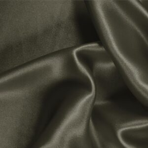 Militare Green Silk Crêpe Satin Plain fabric for Ceremony Dress, Dress, Party dress, Shirt, Skirt, Underwear.
