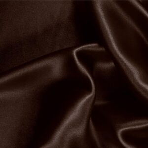 Caffe Brown Silk Crêpe Satin Plain fabric for Ceremony Dress, Dress, Party dress, Shirt, Skirt, Underwear.