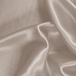 Nude Beige Silk Crêpe Satin Plain fabric for Ceremony Dress, Dress, Party dress, Shirt, Skirt, Underwear.
