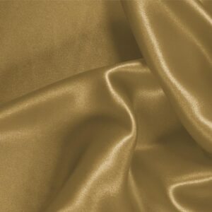 Miele Brown Silk Crêpe Satin Plain fabric for Ceremony Dress, Dress, Party dress, Shirt, Skirt, Underwear.