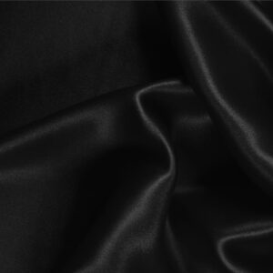 Black Silk Satin Stretch Plain fabric for Ceremony Dress, Dress, Party dress, Shirt, Underwear.