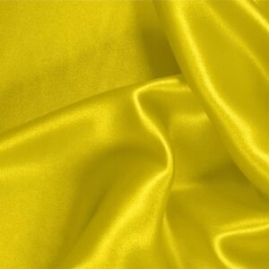 Limone Yellow Silk Satin Stretch Plain fabric for Ceremony Dress, Dress, Party dress, Shirt, Underwear.