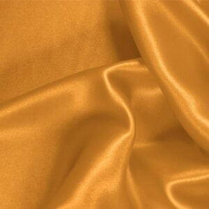 Pesca Orange Silk Satin Stretch Plain fabric for Ceremony Dress, Dress, Party dress, Shirt, Underwear.