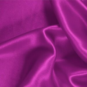 Cyclamen Fuxia Silk Satin Stretch Plain fabric for Ceremony Dress, Dress, Party dress, Shirt, Underwear.