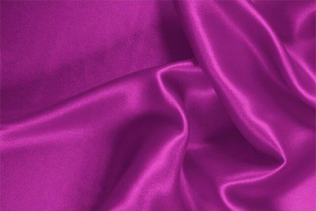 Cyclamen fuchsia stretch silk satin fabric for dressmaking