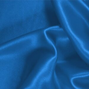 Antille Blue Silk Satin Stretch Plain fabric for Ceremony Dress, Dress, Party dress, Shirt, Underwear.