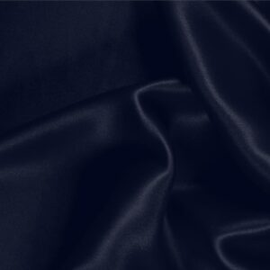 Notte Blue Silk Satin Stretch Plain fabric for Ceremony Dress, Dress, Party dress, Shirt, Underwear.
