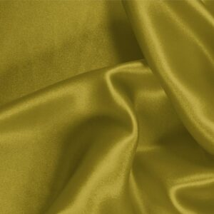 Olio Green Silk Satin Stretch Plain fabric for Ceremony Dress, Dress, Party dress, Shirt, Underwear.