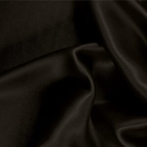Cioccolato Brown Silk Satin Stretch Plain fabric for Ceremony Dress, Dress, Party dress, Shirt, Underwear.