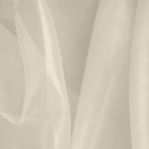 Vaniglia White Silk Organza Plain fabric for Ceremony Dress, Dress, Party dress, Shirt, Wedding dress.