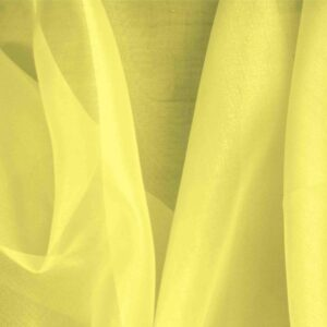 Lemon Yellow Silk Organza Plain fabric for Ceremony Dress, Dress, Party dress, Shirt.