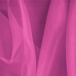 Azalea Fuxia Silk Organza Plain fabric for Ceremony Dress, Dress, Party dress, Shirt.