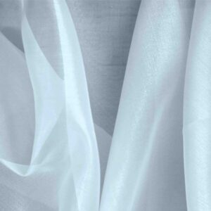 Cielo Blue Silk Organza Plain fabric for Ceremony Dress, Dress, Party dress, Shirt, Wedding dress.
