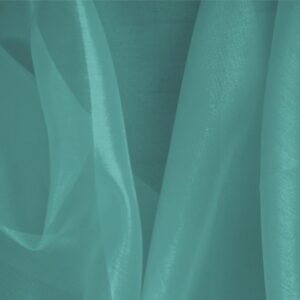 Maldive Blue Silk Organza Plain fabric for Ceremony Dress, Dress, Party dress, Shirt.