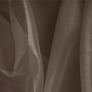 Testa Di Moro Brown Silk Organza Plain fabric for Ceremony Dress, Dress, Party dress, Shirt.