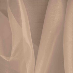 Fard Gray Silk Organza Plain fabric for Ceremony Dress, Dress, Party dress, Shirt, Wedding dress.