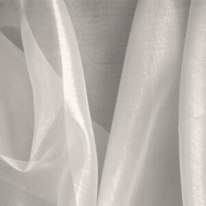 Nebbia Gray Silk Organza Plain fabric for Ceremony Dress, Dress, Party dress, Shirt, Wedding dress.