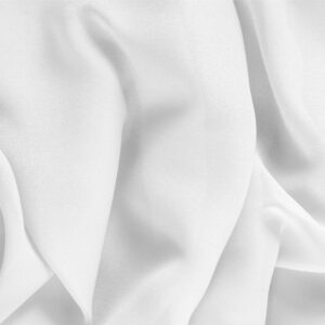 Optical White Silk Georgette Plain fabric for Ceremony Dress, Dress, Party dress, Shirt, Underwear, Wedding dress.