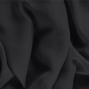 Black Silk Georgette Plain fabric for Ceremony Dress, Dress, Party dress, Shirt, Underwear.