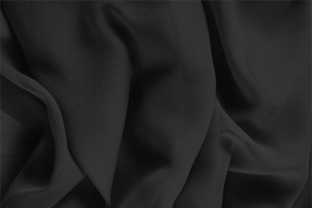 Black Silk Georgette fabric online | new tess