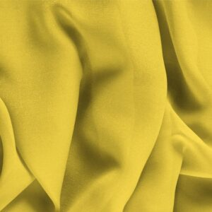 Primula Yellow Silk Georgette Plain fabric for Ceremony Dress, Dress, Party dress, Shirt, Underwear.
