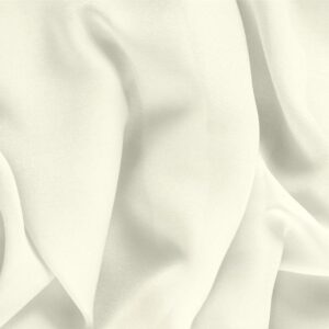 Avorio White Silk Georgette Plain fabric for Ceremony Dress, Dress, Party dress, Shirt, Underwear, Wedding dress.