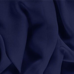 Marine Blue Silk Georgette Plain fabric for Ceremony Dress, Dress, Party dress, Shirt, Underwear.