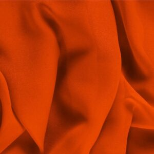 Corallo Orange Silk Georgette Plain fabric for Ceremony Dress, Dress, Party dress, Shirt, Underwear.