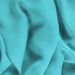 Wave Blue Silk Georgette Plain fabric for Ceremony Dress, Dress, Party dress, Shirt, Underwear.