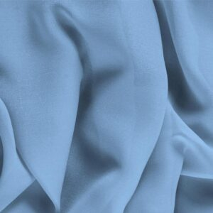 Fiordalisio Blue Silk Georgette Plain fabric for Ceremony Dress, Dress, Party dress, Shirt, Underwear.